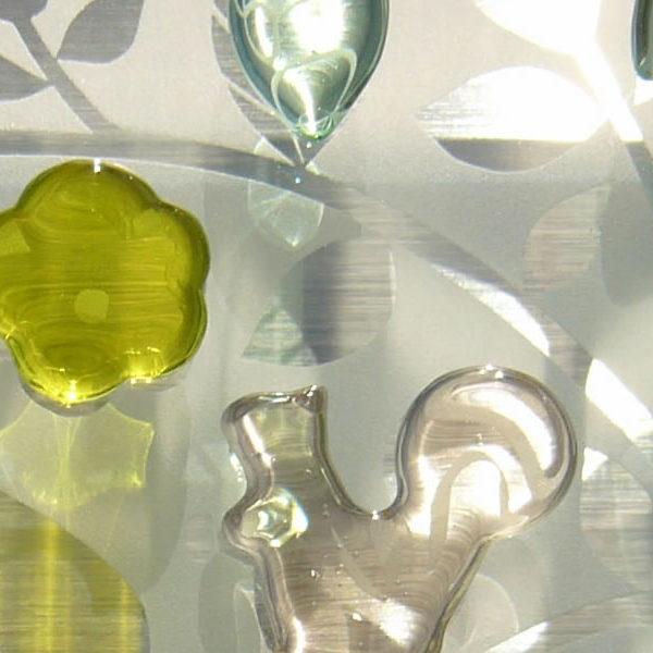 かわいいガラス表札