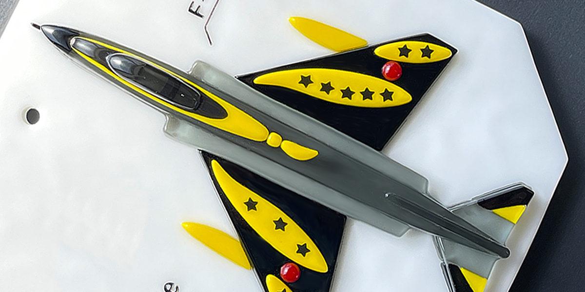 F4EJ改とF15J戦闘機のガラス表札